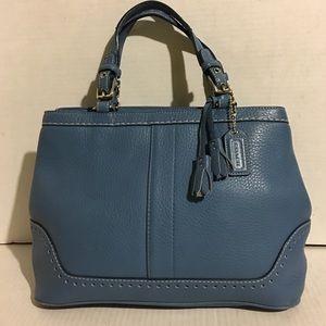 Coach blue hobo leather handbag
